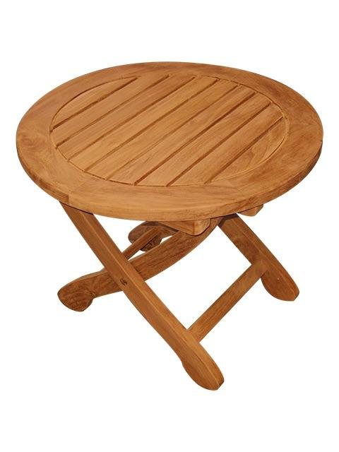 teak wood 21 round folding end table garden boat patio outdoor ebay